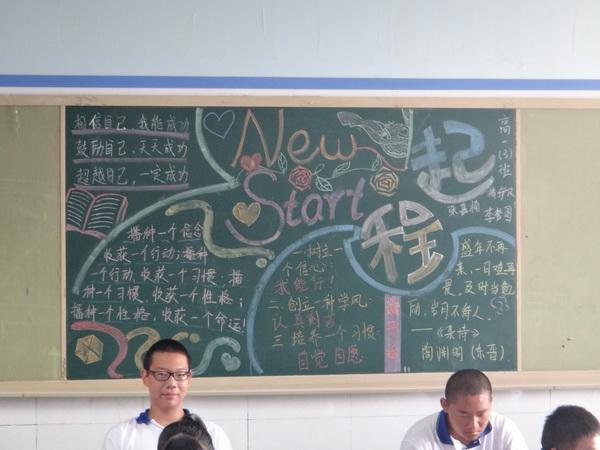 青春共筑中国梦黑板报